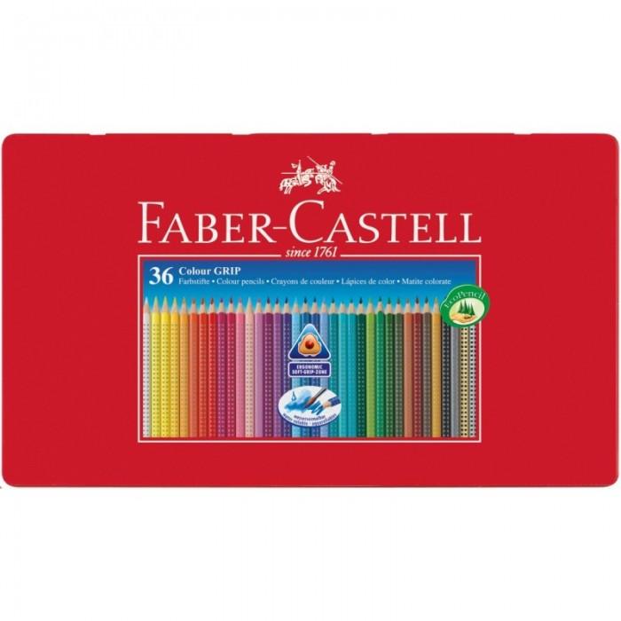 Развитие и школа , Карандаши, восковые мелки, пастель Faber-Castell Цветные карандаши Grip 2001 в металлической коробке 36 шт. арт: 301081 -  Карандаши, восковые мелки, пастель
