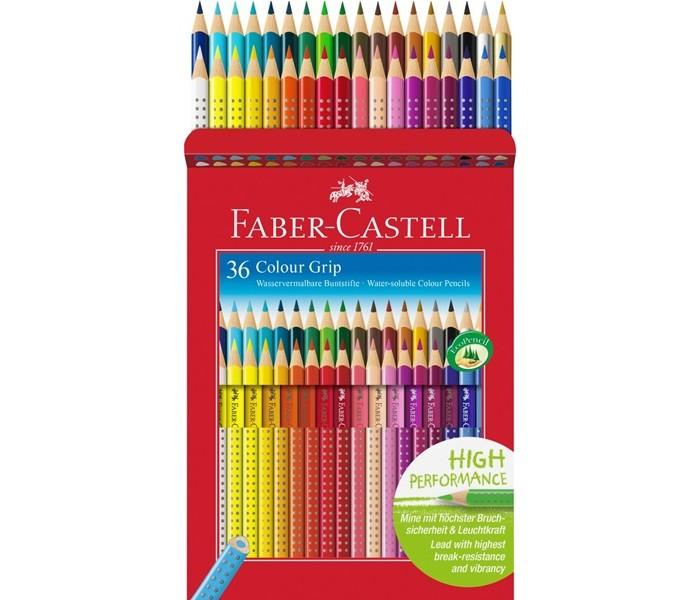 Развитие и школа , Карандаши, восковые мелки, пастель Faber-Castell Цветные карандаши Grip 2001 в картонной коробке 36 шт. арт: 301090 -  Карандаши, восковые мелки, пастель