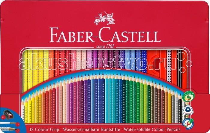 Купить Карандаши, восковые мелки, пастель, Faber-Castell Набор цветных карандашей Grip 2001 48 шт. точилка