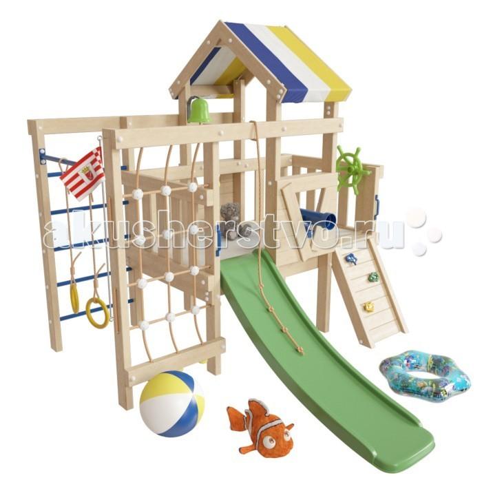 Игровые комплексы Самсон Детский игровой чердак для дома и дачи Немо