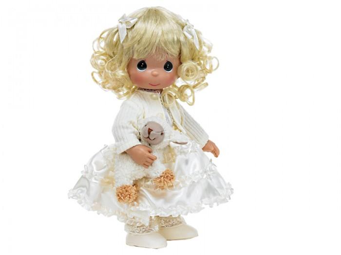 Precious Кукла Сладкие сны 30 смКукла Сладкие сны 30 смКукла Precious Moments Сладкие сны очарует вас и вашу дочурку с первого взгляда!   Кукла привлечет внимание вашей дочурки и станет для нее лучшей игрушкой. Кукла одета в светлое платье и кофточку, а на ногах - ботиночки. Прическа дополнена двумя атласными бантиками. В руке куколка держит мягкую игрушку в виде овечки.    Особенности:  Вся одежда съемная.   Кукла изготавливается из качественного, безопасного материала и имеет пять базовых точек артикуляции.   Кукла имеет свой неповторимый образ и характер.   Волосы прошитые, из качественного синтетического волокна или крученых ниток, в зависимости от образа. Рост куклы 30 см.<br>