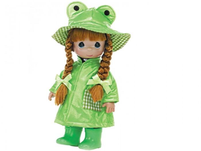 Precious Кукла Дождь и солнце. Лягушонок 30 смКукла Дождь и солнце. Лягушонок 30 смКукла Precious Moments Дождь и солнце. Лягушонок очарует вас и вашу дочурку с первого взгляда!   Кукла привлечет внимание вашей дочурки и станет для нее лучшей игрушкой. Кукла одета в светлое платье и кофточку, а на ногах - ботиночки. Прическа дополнена двумя атласными бантиками. В руке куколка держит мягкую игрушку в виде овечки.    Особенности:  Вся одежда съемная.   Кукла изготавливается из качественного, безопасного материала и имеет пять базовых точек артикуляции.   Кукла имеет свой неповторимый образ и характер.   Волосы прошитые, из качественного синтетического волокна или крученых ниток, в зависимости от образа. Рост куклы 30 см.<br>