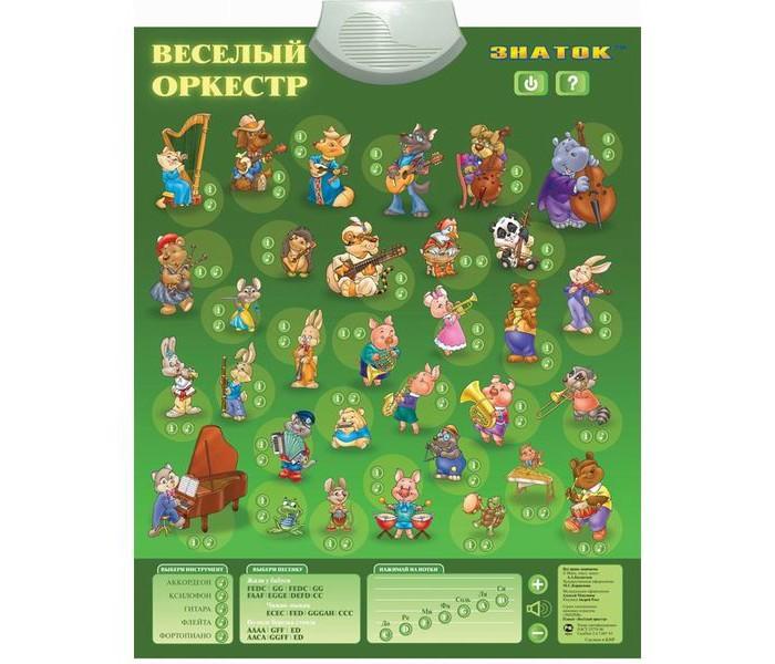 Обучающие плакаты Знаток Электронный звуковой плакат Веселый оркестр