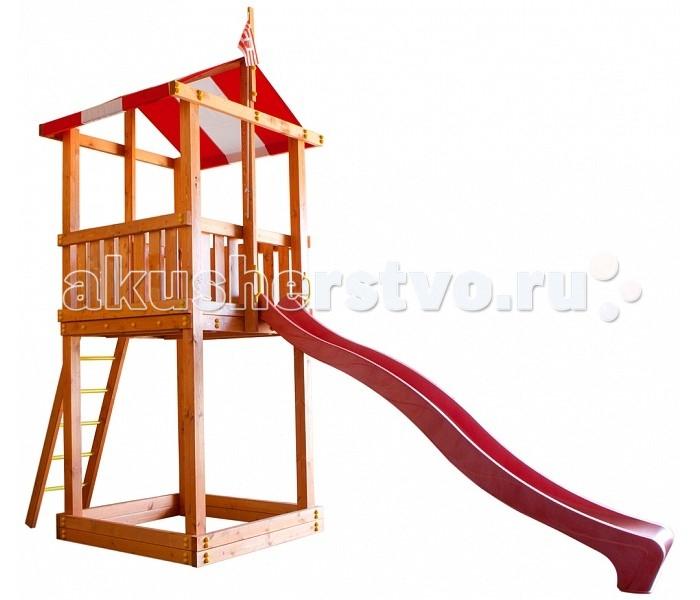 Самсон Детская площадка БременДетская площадка БременСамсон Детская игровая площадка Бремен предназначена для детей от 4 до 9 лет, создает условия, обеспечивающие физическое развитие ребенка, развивающие координацию движений, преодоление страха высоты, ловкость и смелость, чувство коллективизма в массовых играх.   Комплектация детской игровой площадки Бремен:  яркая натяжная крыша песочница (175 мм) деревянная лестница с металлическими ступеньками скалодром с канатом шведская стенка канат качели (2 шт.) флаг северогерманского города Бремен желтые пластиковые поручни длина 250 мм (4 шт.) горка (4 цвета: зеленый, красный, желтый, синий. Цвет горки комплектуется из имеющихся на складе). Габариты площадки:  внешние размеры 4.1 м х 1.6 м  высота 3.2 м  длина горки 3 м  Допустимая нагрузка: 300 кг.  Масса изделия: 154 кг.   Каркас детской игровой площадки изготовлен из многослойного клееного соснового бруса толщиной 85 мм,пол, ограждения из массива сосны толщиной 17 мм.   Детская деревянная площадка упакована в гофрокартоновые короба: 7 мест + горка.  1 место (17 х 9 х 280) 2 место (17 х 9 х 280)  3 место (30 х 9 х 250)  4 место (26 х 9 х 180)  5 место (27 х 17 х 120) 6 место (27 х 17 х 129)  7 место (50 х 31 х 300)<br>