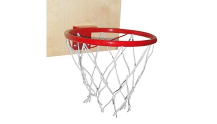Самсон Кольцо баскетбольное со щитомКольцо баскетбольное со щитомСамсон Кольцо баскетбольное со щитом замечательный спортивный снаряд, способный укреплять даже глазные мышцы.   Многие родители боятся игр с мячом дома, опасаясь за сохранность интерьера, но ведь совсем не обязательно покупать настоящий баскетбольный мяч, можно приобрести мягкий плюшевый. Главное развить в ребенке бросок точно в цель. Крепится такое баскетбольное кольцо очень легко, двумя металлическими крючками за перекладину спортивного комплекса. Вы можете выбрать нужную вам высоту по росту ребенка.   Щит: фанера шлифованная.  Каркас: сталь, крашенная эмалью.  Цвет: красный.  Размеры щита: 500 х 500 мм.  Диаметр кольца: 380 мм<br>