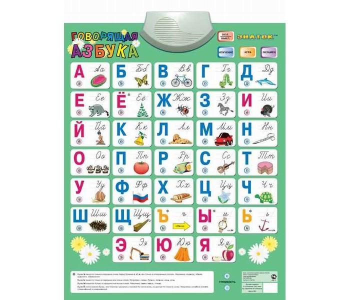 Обучающие плакаты Знаток Электронный звуковой плакат Говорящая азбука