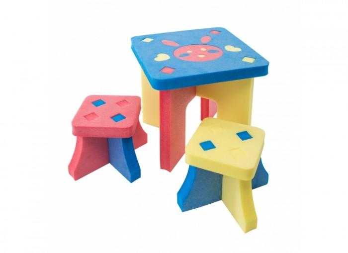 Летние товары , Пластиковая мебель TweetSweet Комплект игровой мебели Litle Rabbit Table and Stools арт: 302032 -  Пластиковая мебель