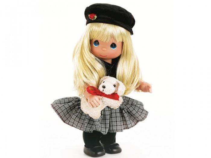 Precious Кукла Ты так мила! 30 смКукла Ты так мила! 30 смКоллекционная кукла Precious Moments Ты так мила! очарует вас и вашу дочурку с первого взгляда!   Кукла станет отличным подарком для любой девочки на день рождения или другой праздник. Куколка одета в черную кофту и клетчатую юбку. На ногах у куклы колготки и черные ботиночки. Вашей дочурке непременно понравится расчесывать длинные белокурые волосы куклы, придумывая различные прически. В руке у куклы ее игрушка - собачка.    Особенности:  Вся одежда съемная.   Кукла изготавливается из качественного, безопасного материала и имеет пять базовых точек артикуляции.   Кукла имеет свой неповторимый образ и характер.   Волосы прошитые, из качественного синтетического волокна или крученых ниток, в зависимости от образа. Рост куклы 30 см.<br>