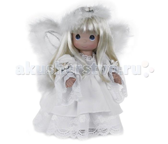 Precious Кукла Неземная Красота блондинка 30 смКукла Неземная Красота блондинка 30 смКоллекционная кукла Precious Moments Неземная Красота очарует вас и вашу дочурку с первого взгляда!   Кукла со светлыми волосами одета в шикарное платье, оформленное кружевами. За спиной у куколки - большие полупрозрачные крылья, которые с легкостью можно отстегнуть. На милом личике большие синие глаза. Вашей дочурке непременно понравится расчесывать волосы куклы, придумывая различные прически.    Особенности:  Вся одежда съемная.   Кукла изготавливается из качественного, безопасного материала и имеет пять базовых точек артикуляции.   Кукла имеет свой неповторимый образ и характер.   Волосы прошитые, из качественного синтетического волокна или крученых ниток, в зависимости от образа. Рост куклы 30 см.<br>