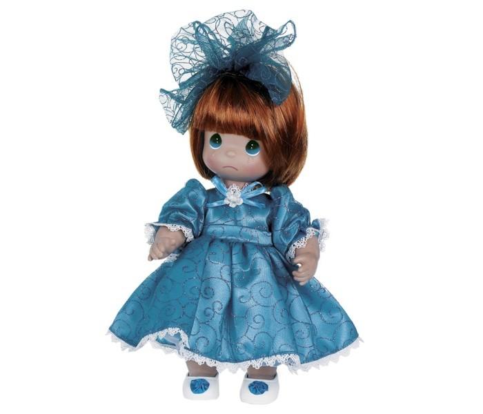 Precious Кукла Мне очень жаль рыжая 30 смКукла Мне очень жаль рыжая 30 смКоллекционная кукла Precious Moments Мне очень жаль очарует вас и вашу дочурку с первого взгляда!   Кукла одета в длинное бирюзовое платье, украшенное блестками и кружевами. На ногах - светлые ботиночки с бирюзовыми бантиками. На голове красуется большой бант. На грустном личике большие зеленые глаза и следы от слез.     Особенности:  Вся одежда съемная.   Кукла изготавливается из качественного, безопасного материала и имеет пять базовых точек артикуляции.   Кукла имеет свой неповторимый образ и характер.   Волосы прошитые, из качественного синтетического волокна или крученых ниток, в зависимости от образа. Рост куклы 30 см.<br>
