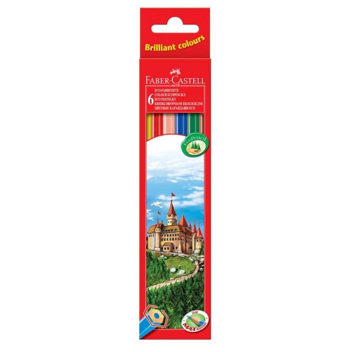 Карандаши, восковые мелки, пастель Faber-Castell Цветные карандаши Замок в картонной коробке 6 шт. фонарь maglite 2d серебристый 25 см в картонной коробке 947251