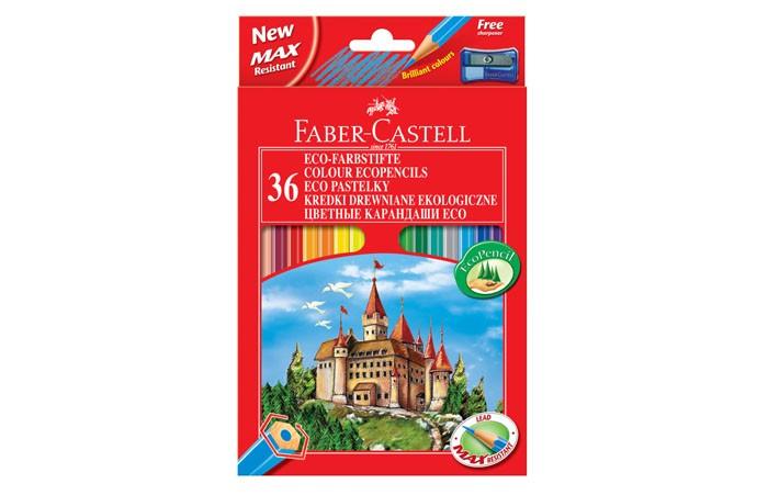 Карандаши, восковые мелки, пастель Faber-Castell Цветные карандаши Замок в картонной коробке 36 шт. точилка карандаши восковые мелки пастель faber castell цветные карандаши grip 2001 в металлической коробке 36 шт