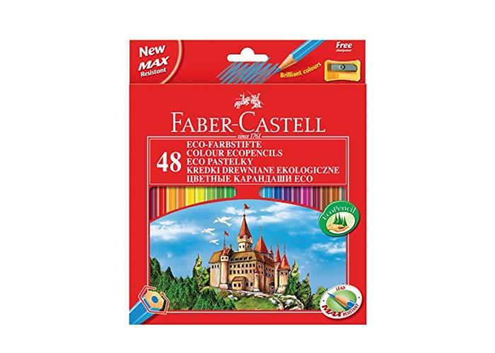 Развитие и школа , Карандаши, восковые мелки, пастель Faber-Castell Цветные карандаши Замок в картонной коробке 48 шт. точилка арт: 303060 -  Карандаши, восковые мелки, пастель