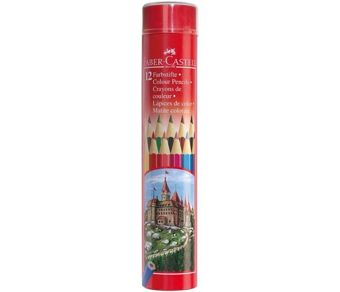 Карандаши, восковые мелки, пастель Faber-Castell Цветные карандаши Замок в тубе 12 шт. цена и фото