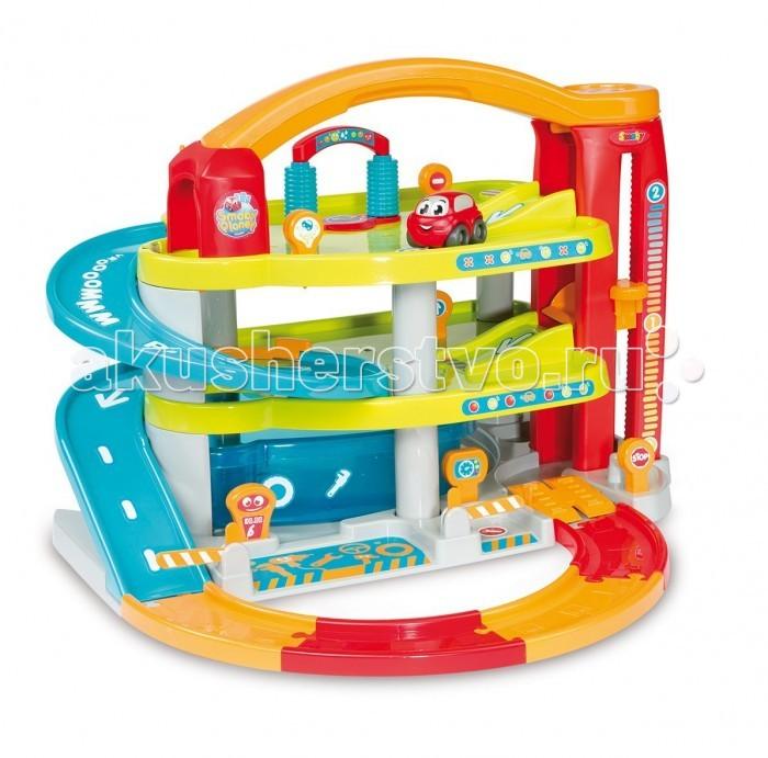 Smoby Гараж трехуровневый Vroom PlanetГараж трехуровневый Vroom PlanetSmoby Гараж трехуровневый Vroom Planet это комплект детских игрушек, произведенный компаниейSmoby, который предназначен для маленьких автолюбителей в возрасте от 18 месяцев. Для того, чтобы вдоволь наиграться этими игрушками, сначала ребенку нужно будет собрать гараж, который состоит из множества деталей. Справиться с этой непростой задачей совсем еще маленьким детям могут помочь их родители.   Комплект: парковка, машинка, вертолет.   Этот гараж идеально подходит для разработки воображения и ловкости  у детей. Изготовлен из высококачественной пластмассы.<br>