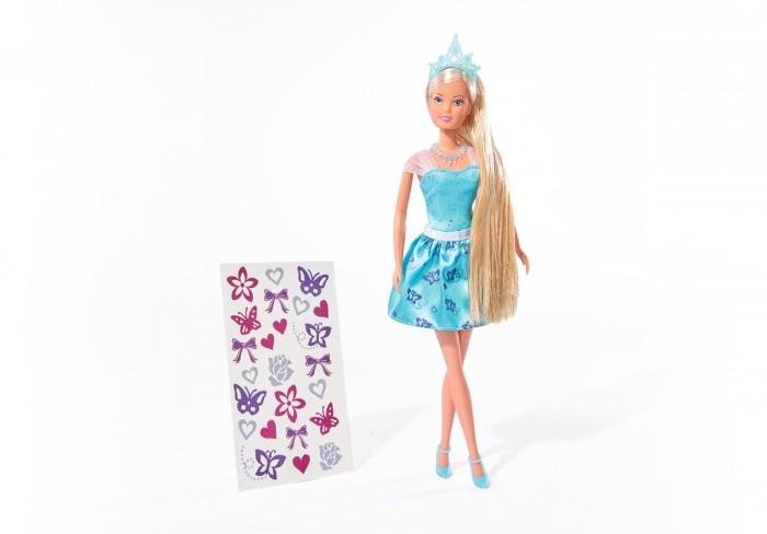 Куклы и одежда для кукол Simba Кукла Штеффи с наклейками для волос 29 см куклы и одежда для кукол gulliver кукла апельсинка в платье с сердечками