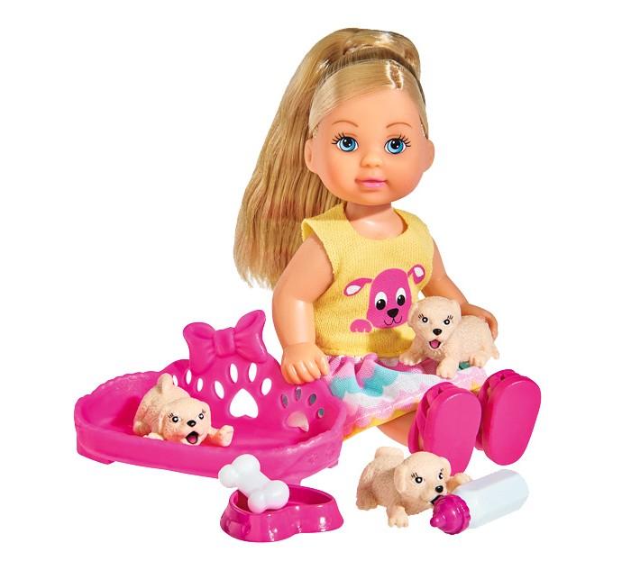 Куклы и одежда для кукол Simba Кукла Еви с собачками 12 см куклы и одежда для кукол весна озвученная кукла саша 1 42 см