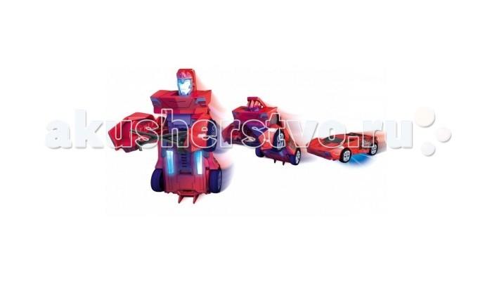 Роботы Dickie Машинка Трансформеры с подсветкой и 3D карточка Die-Cast 7 см