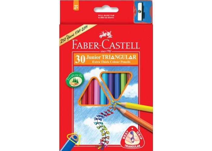 Развитие и школа , Карандаши, восковые мелки, пастель Faber-Castell Цветные карандаши Jumbo в картонной коробке 30 шт. точилка арт: 303549 -  Карандаши, восковые мелки, пастель