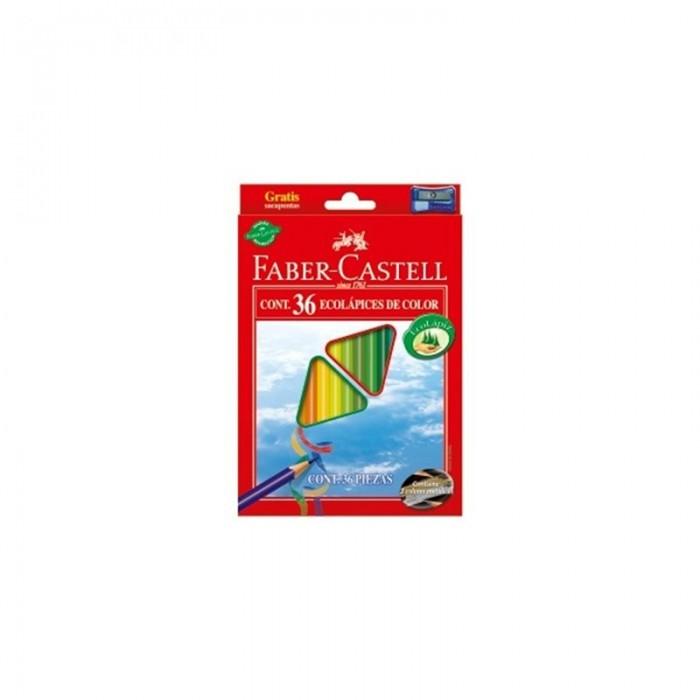 Карандаши, восковые мелки, пастель Faber-Castell Цветные трёхгранные карандаши Eco в картонной коробке 36 шт. точилка карандаши восковые мелки пастель faber castell цветные карандаши grip 2001 в металлической коробке 36 шт