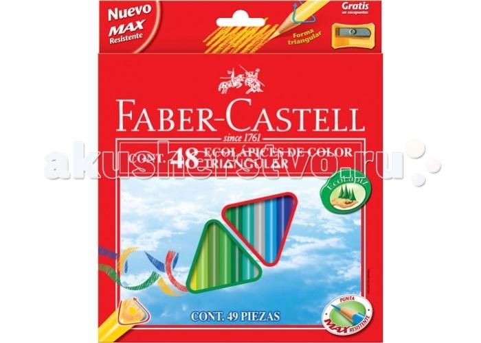 Картинка для Faber-Castell Цветные трёхгранные карандаши Eco в картонной коробке 48 шт. точилка