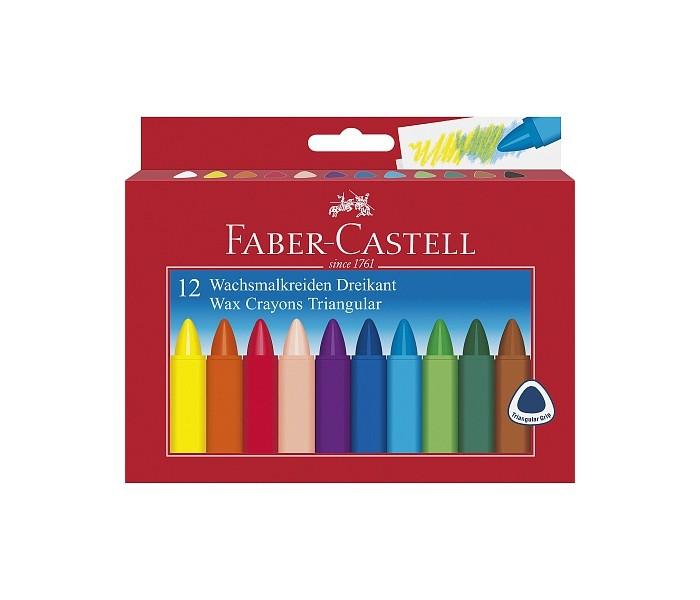 Карандаши, восковые мелки, пастель Faber-Castell Трехгранные восковые карандаши Triangular в картонной коробке 12 шт. карандаши восковые мелки пастель kuso мелки восковые кирпичики 4 цвета