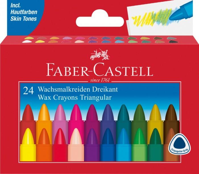 Карандаши, восковые мелки, пастель Faber-Castell Трехгранные восковые карандаши Triangular в картонной коробке 24 шт. карандаши восковые мелки пастель kuso мелки восковые кирпичики 4 цвета