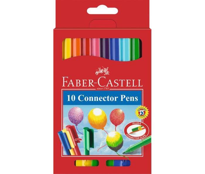 Фломастеры Faber-Castell с клипом в картонной коробке 10 шт. фонарь maglite 2d серебристый 25 см в картонной коробке 947251