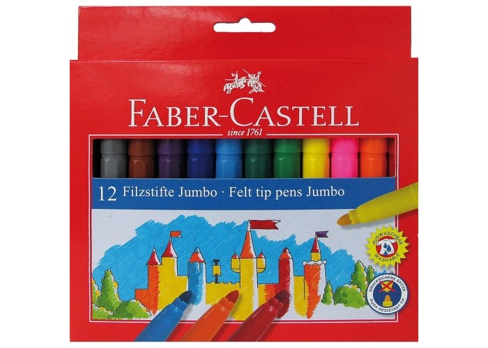 Фломастеры Faber-Castell Jumbo Замок в картонной коробке 12 шт. фонарь maglite 2d серебристый 25 см в картонной коробке 947251