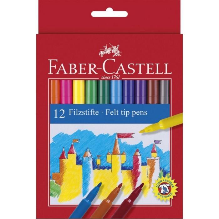 Фломастеры Faber-Castell Замок в картонной коробке 12 шт. фонарь maglite led светодиод 2d синий 25 см в картонной коробке 947233