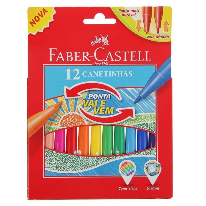 Фломастеры Faber-Castell с мягким наконечником в картонной коробке 12 шт. фонарь maglite 2d серебристый 25 см в картонной коробке 947251