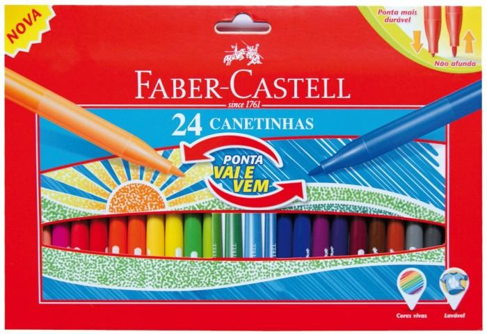 Фломастеры Faber-Castell с мягким наконечником в картонной коробке 24 шт., Фломастеры - артикул:303810