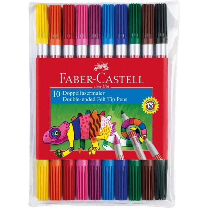 Фломастеры Faber-Castell двухсторонние в футляре 10 шт. пипетка глазная в футляре 100 шт
