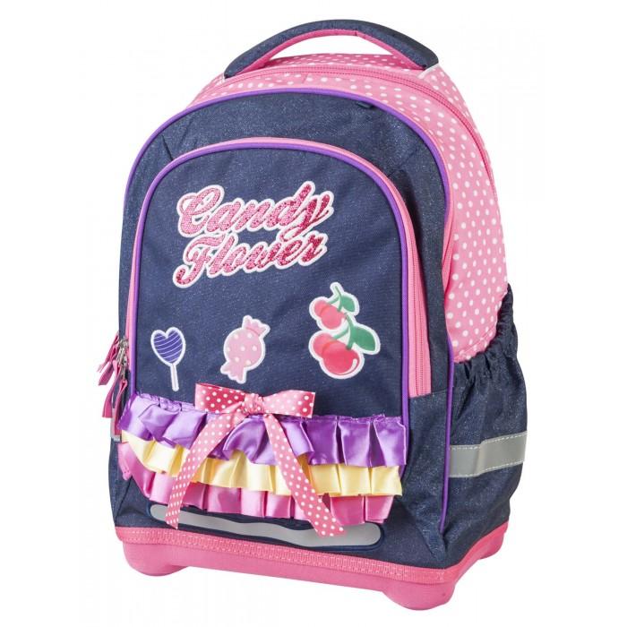 Target Collection Рюкзак супер лёгкий Сладкие цветыРюкзак супер лёгкий Сладкие цветыTarget Collection Рюкзак супер лёгкий Сладкие цветы имеет яркий рисунок и изготовлен из современных, прочных материалов. Техническими особенностями рюкзака (портфелей) Target Collection является система Flexiball (поясничная поддержка), которая оптимально адаптирована для ребенка. Ведь самое главное, чтобы ребенок имел правильную осанку во время переноски портфеля. Система Flexiball является новшеством в промышленности, она правильно распределяет вес мешка, автоматически подстраивается под ребенка и поэтому обеспечивает идеальное положение для поясничной поддержки. Во время прогулки, система Flexiball движется вместе с ребенком, за счет гибкого материала уменьшает нагрузку при ходьбе.  Портфель имеет форму куба, пригодную для учащихся начальных классов. Плечевые лямки можно отрегулировать для каждого ребенка индивидуально, поэтому получается что он «растет» вместе с ребенком. Лямки содержат вентиляционные отверстия и тем самым имеют возможность дышать. Они дополнительно оснащены  ЭКО-пеной, которая делает ношение портфеля более комфортным для ребёнка.  Рюкзак содержит 2 больших отделения, закрывающегося на молнию. На лицевой стороне рюкзака расположен большой накладной карман на молнии, а по бокам рюкзака два кармана на резинке. Светоотражающий материал присутствует на передней, боковой и задней части рюкзака, что позволяет сделать вашего ребенка более заметным, а так же обезопасить его не только днем, но и ночью. При создании данной модели  используются улучшенные материалы (3D), которые имеют свойство «дышать». Благодаря этим материалам воздух циркулирует, и следовательно, спина  ребёнка не будет потеть.   Дополнительно, имеется грудное крепление-стяжка для фиксации на плечах и поясничное крепление для фиксации на поясе ребенка, они установлены так, чтобы порфель самыми оптимальным образом сидел на на теле ребенка. Правильно используя ремни, вес портфеля распределяется следующим об