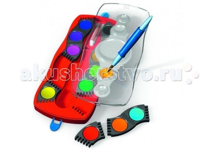 Развитие и школа , Краски Faber-Castell Акварельные краски Connector в пластиковом поддоне с кисточкой 24 шт. арт: 303948 -  Краски