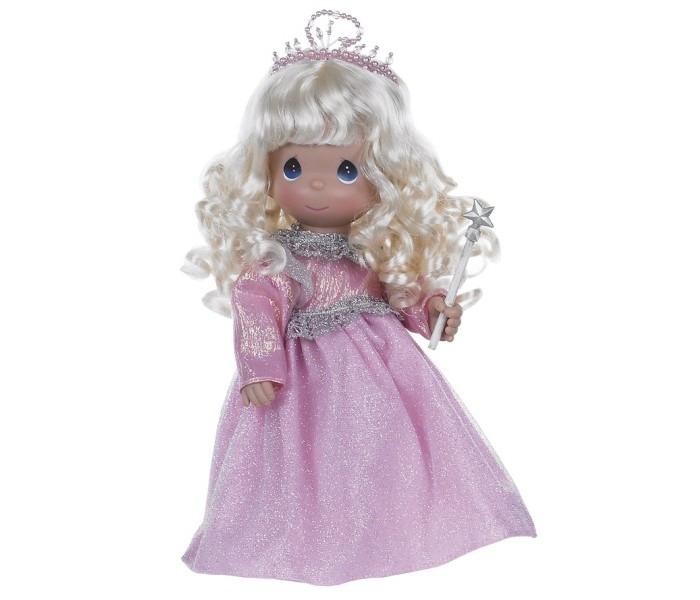 Precious Кукла Волшебница 30 смКукла Волшебница 30 смКоллекционная кукла Precious Moments Волшебница очарует вас и вашу дочурку с первого взгляда!   Кукла исполнит любые ваши желания. Она одета в розовое платье, усыпанное блестками, сверкающий головной убор и розовые туфельки. У куклы светлые волнистые волосы и большие синие глаза. В руке девочка держит волшебную палочку.    Особенности:  Вся одежда съемная.   Кукла изготавливается из качественного, безопасного материала и имеет пять базовых точек артикуляции.   Кукла имеет свой неповторимый образ и характер.   Волосы прошитые, из качественного синтетического волокна или крученых ниток, в зависимости от образа. Рост куклы 30 см.<br>