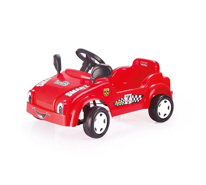 Dolu Педальная Гоночная машинка СмартПедальная Гоночная машинка СмартDolu Педальная Гоночная машинка Смарт станет любимой игрушкой своего обладателя. Активация движения детского транспортного средства происходит при помощи механического воздействия на педали, находящиеся внутри салона. Машина очень проста и легка в эксплуатации, поэтому, малыш сможет кататься на ней самостоятельно. Ваш ребенок почувствует себя настоящим водителем. Эта симпатичная и надежная машинка идеально подходит для прогулок по городу или во дворе, а также и для игры в помещении.   Развивает: реакцию, координацию движений рук и ног, пространственное мышление, тренируется сила ног.  Максимальная нагрузка: 35 кг.<br>