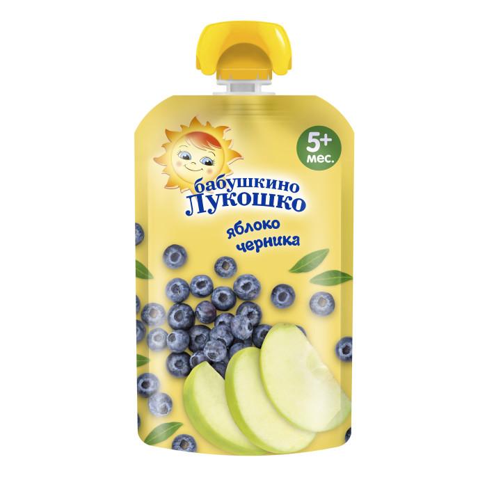 Пюре Бабушкино лукошко Пюре яблоко черника с 5 мес гербер пюре яблоко лесные ягоды с 5 мес 130г