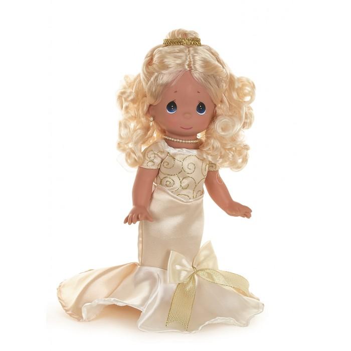 Precious Кукла Элегантность блондинка 30 смКукла Элегантность блондинка 30 смКукла Precious Moments Элегантность блондинка очарует вас и вашу дочурку с первого взгляда!   Кукла имеет очаровательное личико, восхитительный наряд и неповторимый шарм. У куклы длинные светлые волосы, уложенные локонами. На ногах туфли под цвет платья.    Особенности:  Вся одежда съемная.   Кукла изготавливается из качественного, безопасного материала и имеет пять базовых точек артикуляции.   Кукла имеет свой неповторимый образ и характер.   Волосы прошитые, из качественного синтетического волокна или крученых ниток, в зависимости от образа. Рост куклы 30 см.<br>