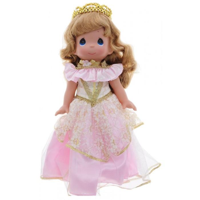 Precious Кукла Спящая красавица 30 смКукла Спящая красавица 30 смКукла Precious Moments Спящая красавица очарует вас и вашу дочурку с первого взгляда!   Кукла одета в шикарное розовое платье с блестками и золотистой вышивкой. На голове - диадема из бусинок золотистого цвета. У куклы милое личико с большими синими глазами.     Особенности:  Вся одежда съемная.   Кукла изготавливается из качественного, безопасного материала и имеет пять базовых точек артикуляции.   Кукла имеет свой неповторимый образ и характер.   Волосы прошитые, из качественного синтетического волокна или крученых ниток, в зависимости от образа. Рост куклы 30 см.<br>