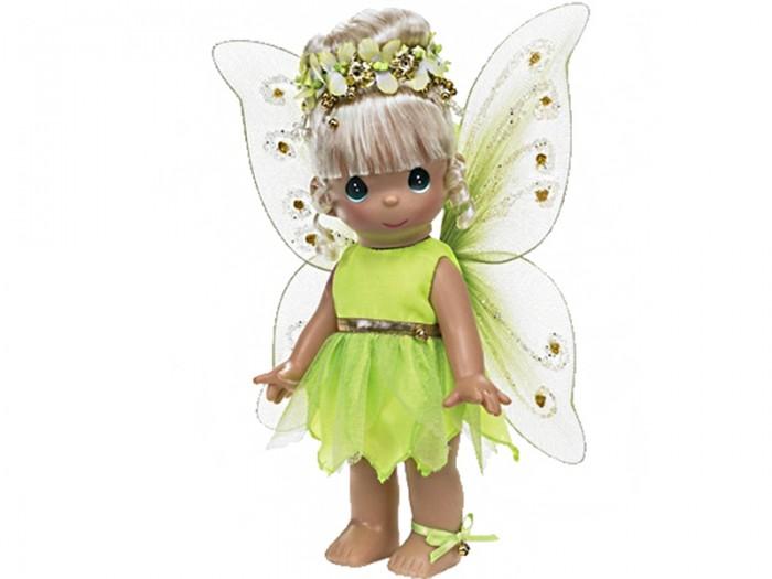 Precious Кукла Фея Динь-Динь 30 смКукла Фея Динь-Динь 30 смКукла Precious Moments Фея Динь-Динь очарует вас и вашу дочурку с первого взгляда!   Кукла очарует вас и вашу дочурку с первого взгляда! На куколке восхитительное съемное платье салатового цвета, за спиной у нее - большие полупрозрачные крылья, которые с легкостью можно отстегнуть. У феи шикарные светлые волосы, которые забраны вверх и украшены цветочным венком. На милом личике большие зеленые глаза.     Особенности:  Вся одежда съемная.   Кукла изготавливается из качественного, безопасного материала и имеет пять базовых точек артикуляции.   Кукла имеет свой неповторимый образ и характер.   Волосы прошитые, из качественного синтетического волокна или крученых ниток, в зависимости от образа. Рост куклы 30 см.<br>
