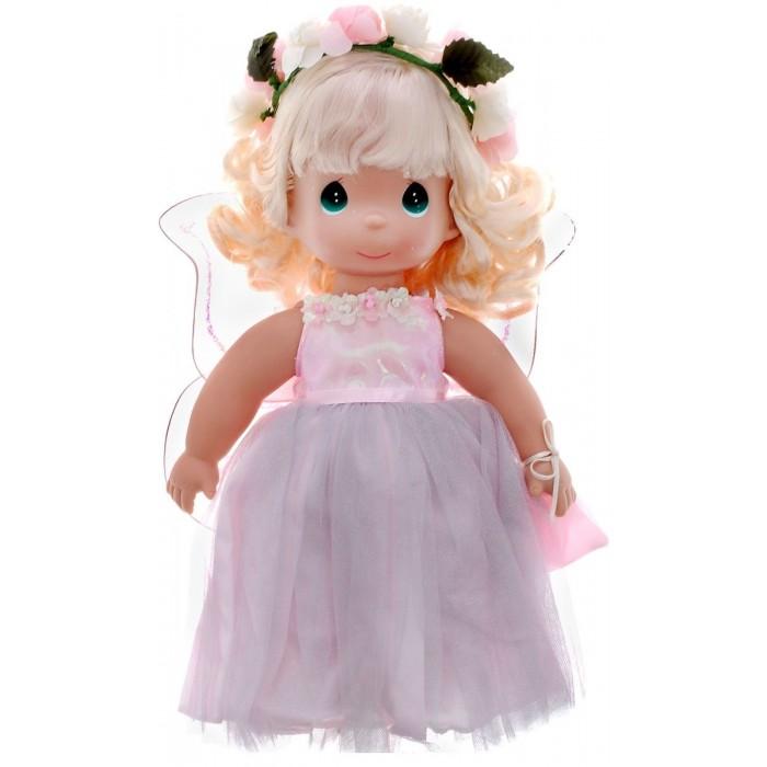 Precious Кукла Волшебные сны 30 смКукла Волшебные сны 30 смКукла Precious Moments Волшебные сны очарует вас и вашу дочурку с первого взгляда!   Кукла одета в длинное розовое платье с блестящими крыльями, которые с легкостью можно отстегнуть. Ее прическу украшает цветочный венок. У девочки вьющиеся светлые волосы и большие зеленые глаза. В руках она держит мешочек.    Особенности:  Вся одежда съемная.   Кукла изготавливается из качественного, безопасного материала и имеет пять базовых точек артикуляции.   Кукла имеет свой неповторимый образ и характер.   Волосы прошитые, из качественного синтетического волокна или крученых ниток, в зависимости от образа. Рост куклы 30 см.<br>