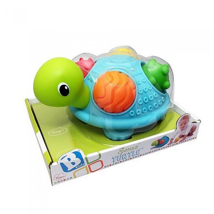 Развивающая игрушка B kids Игрушка Черепашка SensoryИгрушка Черепашка SensoryB kids Игрушка Черепашка Sensory  - это превосходная, безопасная игрушка для развития логического мышления и тактильных ощущений малыша. Серия  Sensory посвящена оригинальным развивающим игрушкам из софт-пластика с рельефной поверхностью.   В панцирь черепашки помещаются 4 крупных тактильных шара: они имеют разную текстуру, малыш может ощупывать их и сжимать (после сжатия шары возвращаются к первоначальной форме).<br>