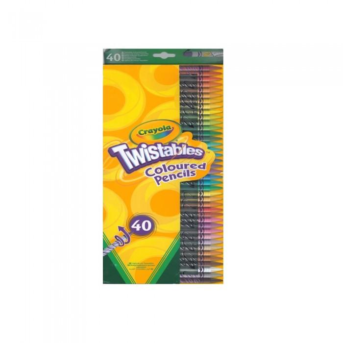Наборы для творчества Crayola Набор для творчества 40 выкручивающихся цветных карандашей crayola crayola набор из 24 цветных карандашей