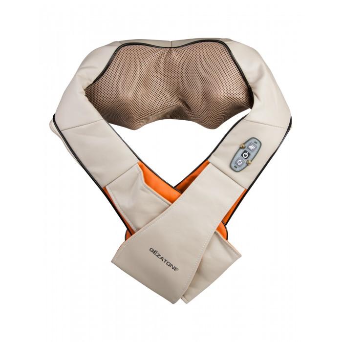 Gezatone Массажер для тела роликовый iRelaxМассажер для тела роликовый iRelaxGezatone Массажер для тела роликовый iRelax предназначен для глубокого разминающего массажа шеи и плеч, поясничной области и живота, кистей и ног. Он прекрасно снимает напряжение, улучшает самочувствие и позволяет вернуть бодрость!    Массажер созданный для самостоятельного массажа в домашних условиях, который помогает вернуть телу бодрость, снимает напряжение и спазм, помогает в курсах коррекции фигуры.   Такая многофункциональность достигается благодаря уникальной эргономичной форме массажера и вращающимся роликам, создающим эффект трехмерного глубокого массажа. Массаж шеи и плечстановится невероятно удобным благодаря уникальной форме прибора. Просто наденьте его на плечи, расположите руки в держателях и получите максимальное расслабление и наслаждение от глубокого роликового массажа.   Такое воздействие снимает спазм мышц, устраняет синдром «затекшей шеи и будет просто незаменимо для тех, кто работает за компьютером и испытывает постоянное напряжение.  Особенности: Массаж спины и поясницыпозволит быстро справиться с болевыми синдромами и спазмом мышц.  Прибор удобно располагается на проблемных участках спины, позволяя провести профессиональный массаж, как у лучших массажистов.  Благодаря специальному фиксатору Вы можете надежно закрепить массажер на пояснице, чтобы избавиться от дискомфорта в этой зоне. Массаж кистей рук и предплечийэто прекрасная профилактика заболеваний суставов и туннельного синдрома запястья.  Роликовое воздействие в сочетании с инфракрасным прогревом снимает спазм глубоких мышц, устраняет скованность, помогает расслабить мышцы после физических нагрузок. Массаж бедер и икрпозволяет справиться с накопившейся усталостью, является отличной профилактикой варикоза и целлюлита в этих областях, улучшает кровообращение и способствует выводу застоявшейся жидкости.  Регулярное применение массажера улучшает общее самочувствие и восстанавливает тонус мышц ног.  Массаж живота- эт