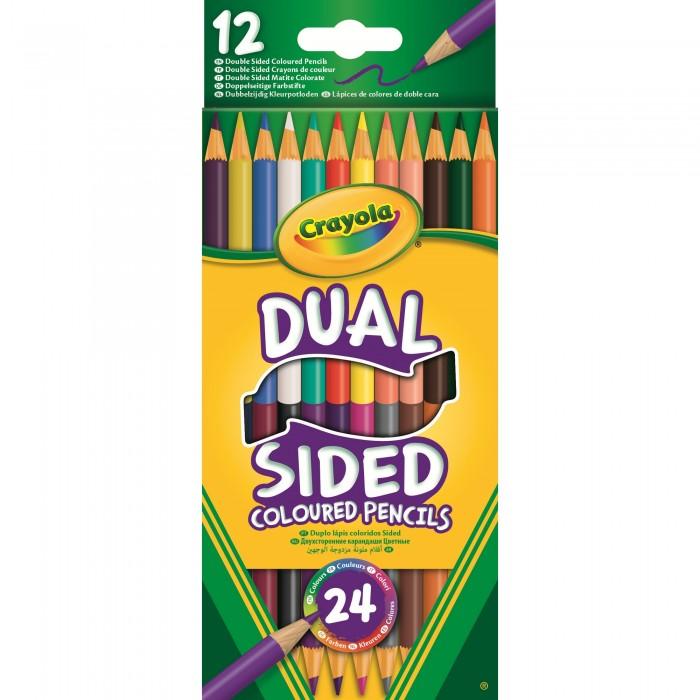 Карандаши, восковые мелки, пастель Crayola 12 двухсторонних карандашей crayola мелки восковые треугольные смываемые 16 шт