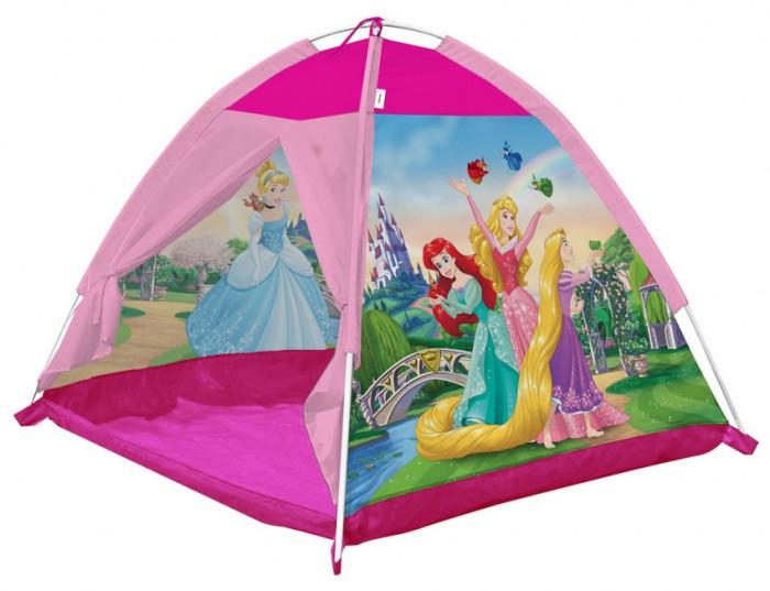 Fresh-Trend Палатка ПринцессыПалатка ПринцессыДетская палатка Принцессы Fresh-Trend   Красивая и яркая палатка, замечательная игрушка. Дети очень любят строить домики и укрытия, играть там и отдыхать. Игровая палатка может использоваться как дома, так и летом на даче. Очень компактно складывается и легко раскладывается.   Каркас легко собирается из трубочек.   Вход в палатку может быть открытым благодаря креплениям-ленточкам. Палатка проста в использовании, она складывается, приобретает компактный размер. За ней легко ухаживать, достаточно протирать влажной тряпкой.  Размер палатки: 112х112х84 см.<br>