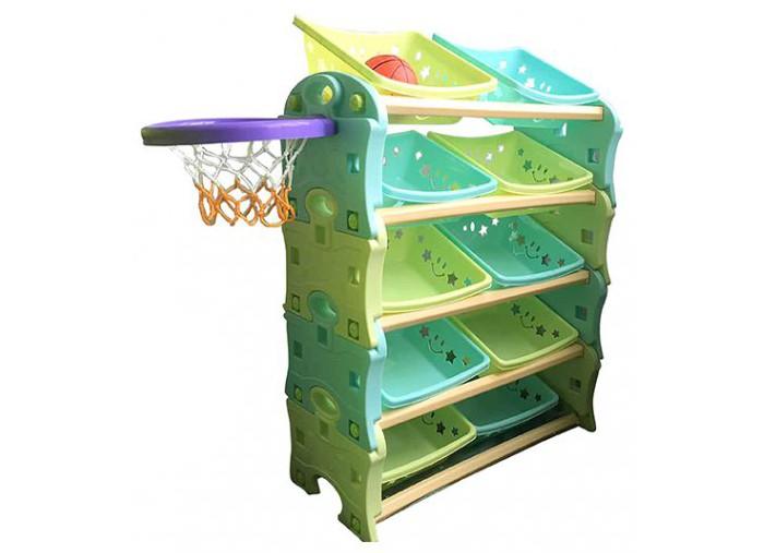 Family Этажерка-трансформер с баскетбольным кольцом F-825Этажерка-трансформер с баскетбольным кольцом F-825Family Этажерка-трансформер с баскетбольным кольцом состоит из элементов, которые скрепляются между собой и также легко разбираются, и из одной этажерки можно легко сделать несколько!   Детская этажерка для игрушек изготовлена из яркого, однородного и надежного пластика. Выполнена в ярких цветах и имеет оригинальный дизайн. Краски устойчивы к ультрафиолетовому излучению и изменениям температуры, устойчивы к истиранию и воздействию внешней среды. Игровая площадка соответствует ГОСТам, которые указаны в сертификатах соответствия.   В комплекте устойчивая красочная этажерка и набор из десяти контейнеров для игрушек одинаковых по размеру. Острые углы - отсутствуют.   Детская этажерка рассчитана для детей дошкольного возраста, младших групп и ясель. Игровая площадка легко очищается и удобно в использовании. Мячик (надутый) в комплекте<br>