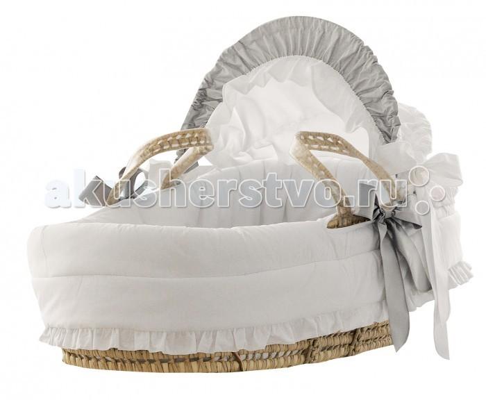 Колыбель Pali Плетеная люлька с капюшоном Baby Baby и подставкой