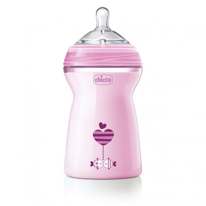 Бутылочки Chicco Natural Feeling силиконовая соска с флексорами 6 мес. 330 мл chicco бутылочка для кормления 330 мл силиконовая